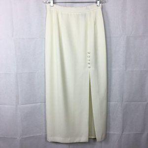 Alex Evenings Long Formal Maxi Ivory Skirt Sz 12